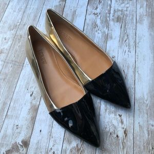 J. Crew Color Block Pointed Flats